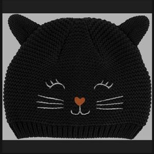 Carters Baby Girl Knitted Cat Hat